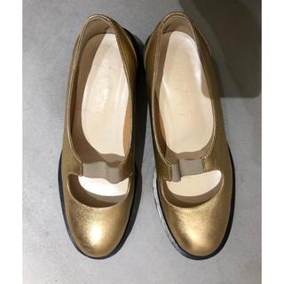 ヘンリクビブスコフ(HENRIK VIBSKOV)のFLAT APARTMENT ゴールドシューズ cosmicwonder(ローファー/革靴)
