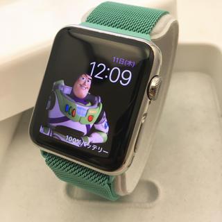 Apple Watch - Apple Watch 42mm ステンレス ミントグリーンループベルト 付き