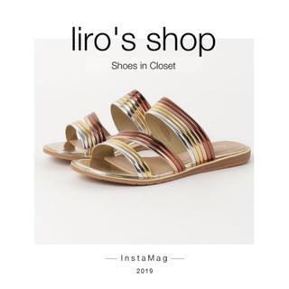 Shoes in closet♡ メタリックトリプルベルト フラットサンダル(サンダル)