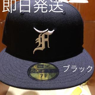 フィアオブゴッド(FEAR OF GOD)のfog essentials cap ブラック サイズ7 3/8(キャップ)