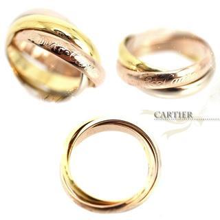 カルティエ(Cartier)の美品★CARTIER カルティエ♡トリニティリング10号★指輪ピンクゴールド(リング(指輪))
