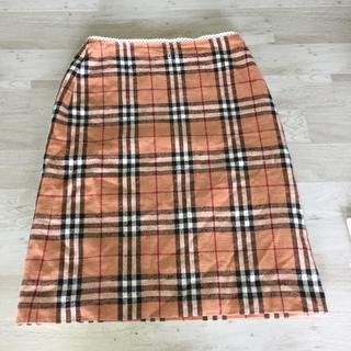 バーバリーブルーレーベル(BURBERRY BLUE LABEL)のバーバリー ブルーレーベル スカート サイズ38(ひざ丈スカート)