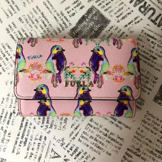 フルラ(Furla)のFURLA バビロン 三つ折り財布 小鳥柄(財布)