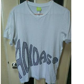 アディダス(adidas)のアディダス Tシャツ!白!Mサイズ‼(Tシャツ/カットソー(半袖/袖なし))