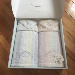 ジェラートピケ(gelato pique)のgelato pique フェイスタオル&ハンカチタオルセット BOX入り(タオル/バス用品)