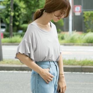 DOORS / URBAN RESEARCH - 新品タグ付き♡アーバンリサーチドアーズのフリルスリーブTシャツ グレー