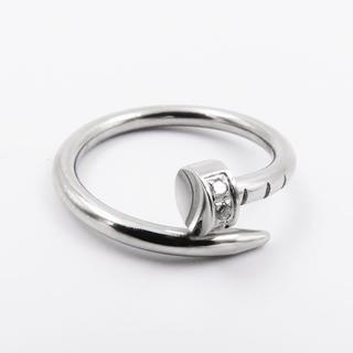リング 指輪 釘 シルバー シンプル ジルコニア ステンレス レディース(リング(指輪))