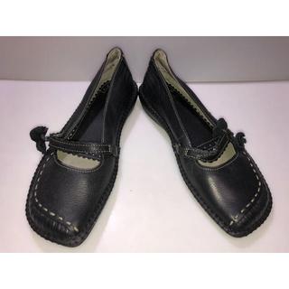 クラークス(Clarks)の86クラークス◆革靴 ローファー モカシン 黒系 UK3 2/1 花 フラワー(ローファー/革靴)