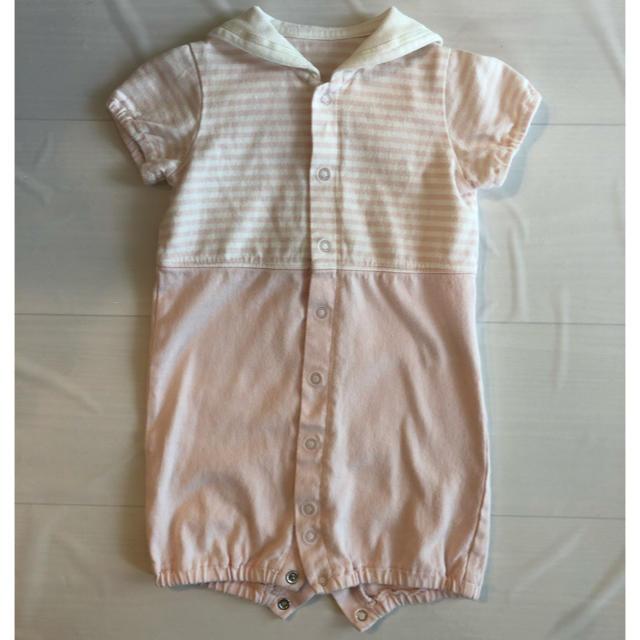 COMME CA ISM(コムサイズム)のコムサ セーラーカラー カバーオール  50cm キッズ/ベビー/マタニティのベビー服(~85cm)(カバーオール)の商品写真