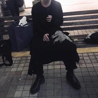 Yohji Yamamoto - ヨウジヤマモト 18aw 抜染ハット女ヘンリーネックワンピース