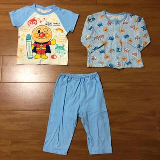 アンパンマン - アンパンマン パジャマ 半袖 長袖 80 3点セット