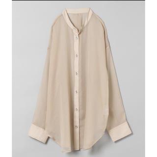 ジーナシス(JEANASIS)のJEANASIS 完売新作 シアーバンドカラーシャツ(シャツ/ブラウス(長袖/七分))