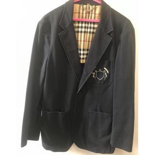 バーバリー(BURBERRY)のBURBERRY バーバリーロンドン コットン100% ネイビージャケット♪(テーラードジャケット)