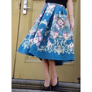 エイミーイストワール(eimy istoire)のエイミーイストワール ornament flower フレアスカート(ひざ丈スカート)