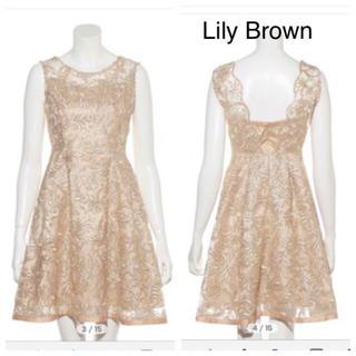 リリーブラウン(Lily Brown)の定価14,904円 新品 リリーブラウン 1 (M) コードレースワンピース(その他ドレス)