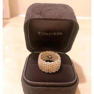 Tiffany & Co. - 美品 ティファニー Tiffany サマセット メッシュ リング 指輪 TWO