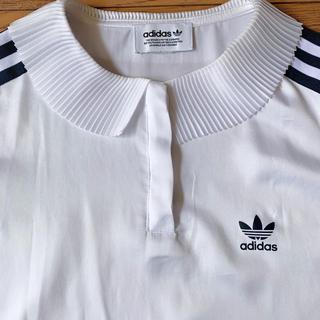 adidas - アディダス プリーツ襟 ポロシャツ