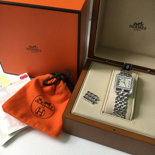 エルメス(Hermes)のエルメス ケープコッド K18WG ダイヤ レディース腕時計(腕時計)