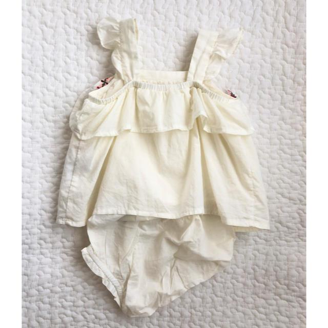 babyGAP(ベビーギャップ)の美品 Baby gap 刺繍 タンクトップ セット 6-12m 70cm キッズ/ベビー/マタニティのベビー服(~85cm)(ロンパース)の商品写真