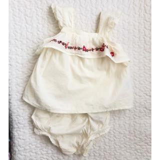 babyGAP - 美品 Baby gap 刺繍 タンクトップ セット 6-12m 70cm