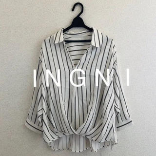 INGNI - 新品★ I N G N I裾タックトロミスキッパー7分袖シャツ