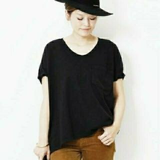 ドゥーズィエムクラス(DEUXIEME CLASSE)のSKARGORNポケツキワイドTシャツ 新品未使用(Tシャツ(半袖/袖なし))
