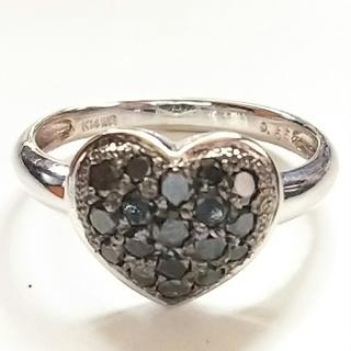 リング  K14WG  ブラックダイヤ(リング(指輪))