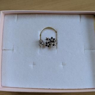 K18 WG BKダイヤ 指輪 リング ブラックダイヤ ダイヤモンド(リング(指輪))
