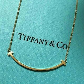 Tiffany & Co. - ティファニー Tスマイルネックレス ゴールド
