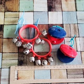ヤマハ(ヤマハ)の【幼稚園】カスタネット&すず④点セット(楽器のおもちゃ)