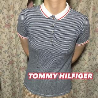 トミーヒルフィガー(TOMMY HILFIGER)の*TOMMY HIFGER*ボーダーポロシャツ*S*トミーフィルガー(ポロシャツ)