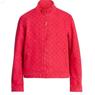 ルイヴィトン(LOUIS VUITTON)の19AW新品ヴィトン  モノグラム デニムジャケット赤50 本物 正規品(Gジャン/デニムジャケット)