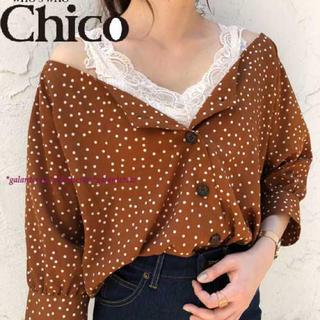 who's who Chico - 【新品】who'swhoChicoフーズフーチコ★水玉ブラウスシャツジャケット
