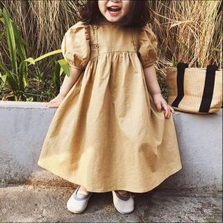 韓国子供服 * パフスリーブワンピース(ワンピース)