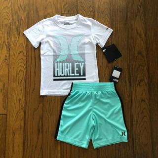ハーレー(Hurley)のHurley新品ボーイズ用Tシャツ&短パン セットアップ 白&グリーン(Tシャツ/カットソー)