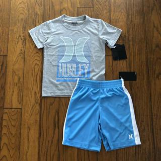 ハーレー(Hurley)のHurley新品ボーイズ用Tシャツ&短パン セットアップ グレー&水色(Tシャツ/カットソー)