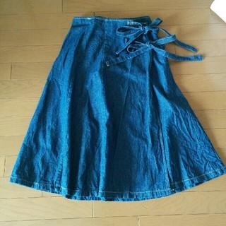 メルロー(merlot)のメルロー デニム巻きスカート(ロングスカート)