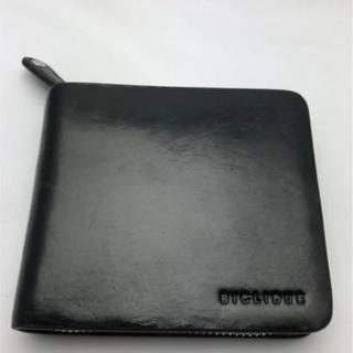 BIGLIDUE - 新品 イタリアンレザー 二つ折り財布 ラウンドファスナー black