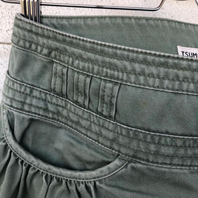 TSUMORI CHISATO(ツモリチサト)のツモリチサト TSUMORICHISATO の 製品洗い ギャザー スカート レディースのスカート(ミニスカート)の商品写真