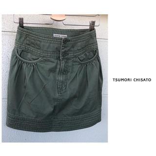 ツモリチサト(TSUMORI CHISATO)のツモリチサト TSUMORICHISATO の 製品洗い ギャザー スカート(ミニスカート)