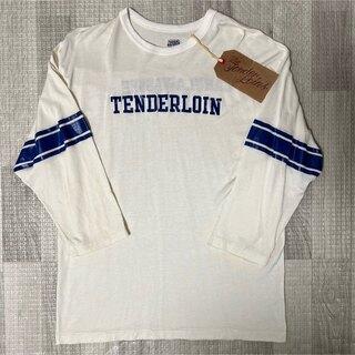 テンダーロイン(TENDERLOIN)の人気品! TENDERLOIN NFL フットボール シャツ ホワイト ブルー(Tシャツ/カットソー(七分/長袖))