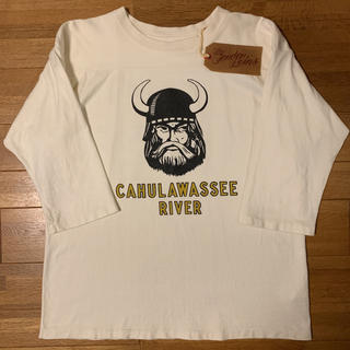 テンダーロイン(TENDERLOIN)の人気品! TENDERLOIN 長袖 Tシャツ ロンT フットボール 白 M(Tシャツ/カットソー(七分/長袖))