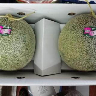 甘くて美味しい❤️肥後グリーンメロン超大玉2個入 なんと1玉約2.5k❤️(フルーツ)
