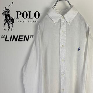 ラルフローレン(Ralph Lauren)の古着 ラルフローレン ワンポイントロゴ リネン BDシャツ(シャツ)