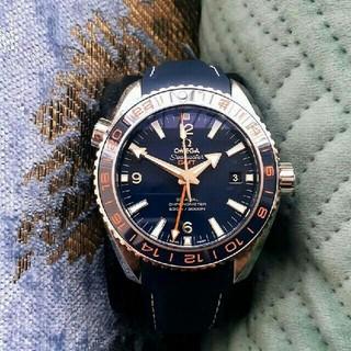 OMEGA - 中古 OMEGA シーマスター プラネットオーシャン GMT メンズ 腕時計