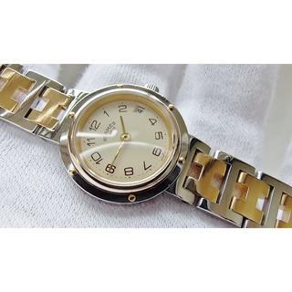 エルメス(Hermes)のHERMES エルメス クリッパー 女性用 クオーツ腕時計 電池新品 B2111(腕時計)