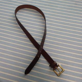 ユナイテッドアローズ(UNITED ARROWS)の未使用 革 ベルト 茶色 ブラウン レディース カジュアル 本革 ヌメ革(ベルト)