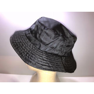 バーバリー(BURBERRY)の27バーバリーゴルフ 帽子ハット 黒系 チェック柄 Sサイズ Mサイズ 三陽商会(ハット)