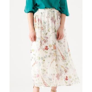 ティアラ(tiara)のTiara fluffy flowerプリントスカート(ロングスカート)