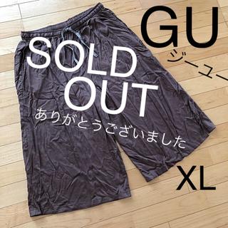 GU - GU ジーユー レーヨンラウンジワイドパンツ XLサイズ